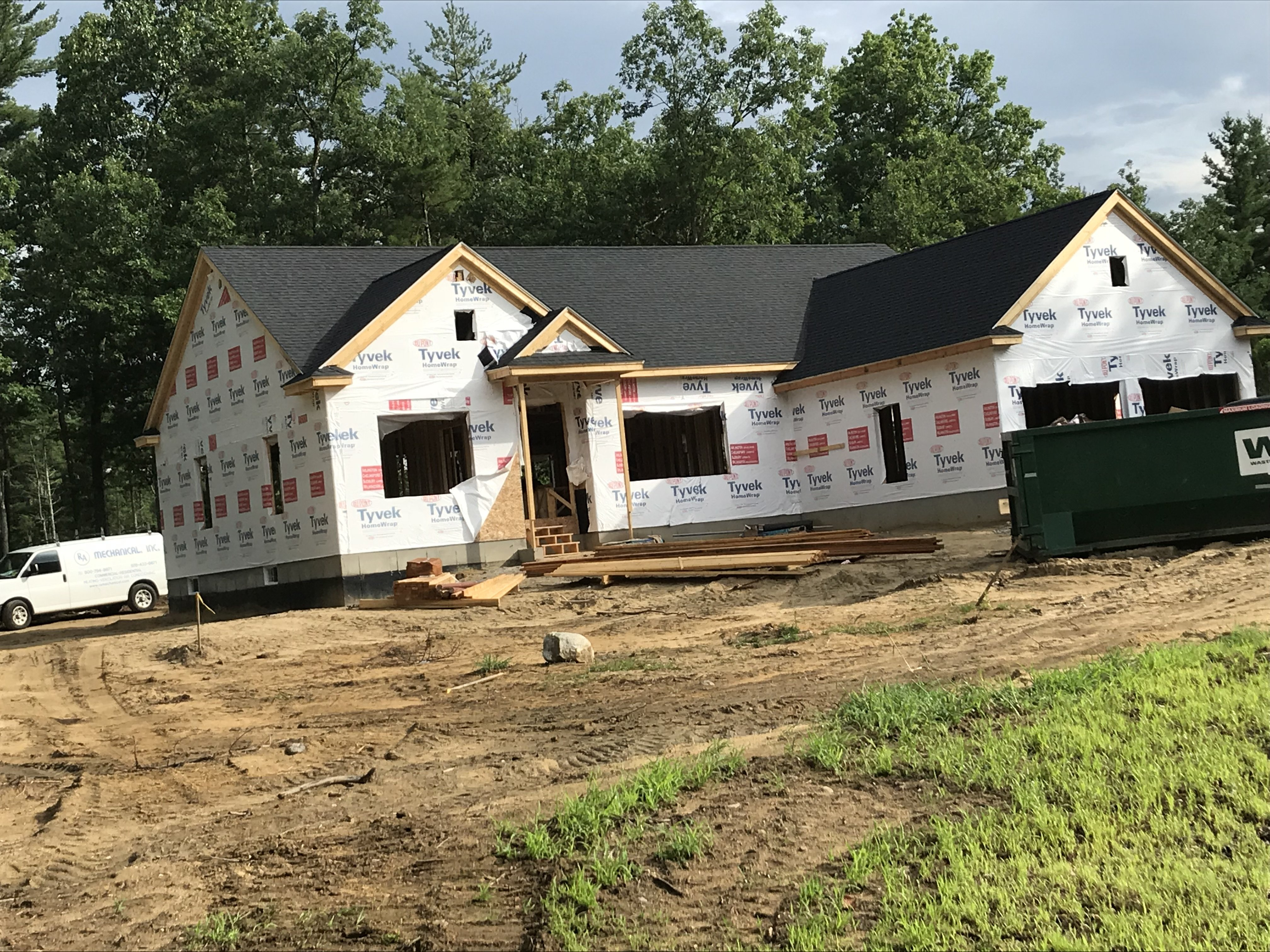 New construction roof install in Litchfield NH   ASAP Roofing NH