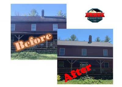 Before & After: Residential Roofing in New Boston NH by ASAP Roofing