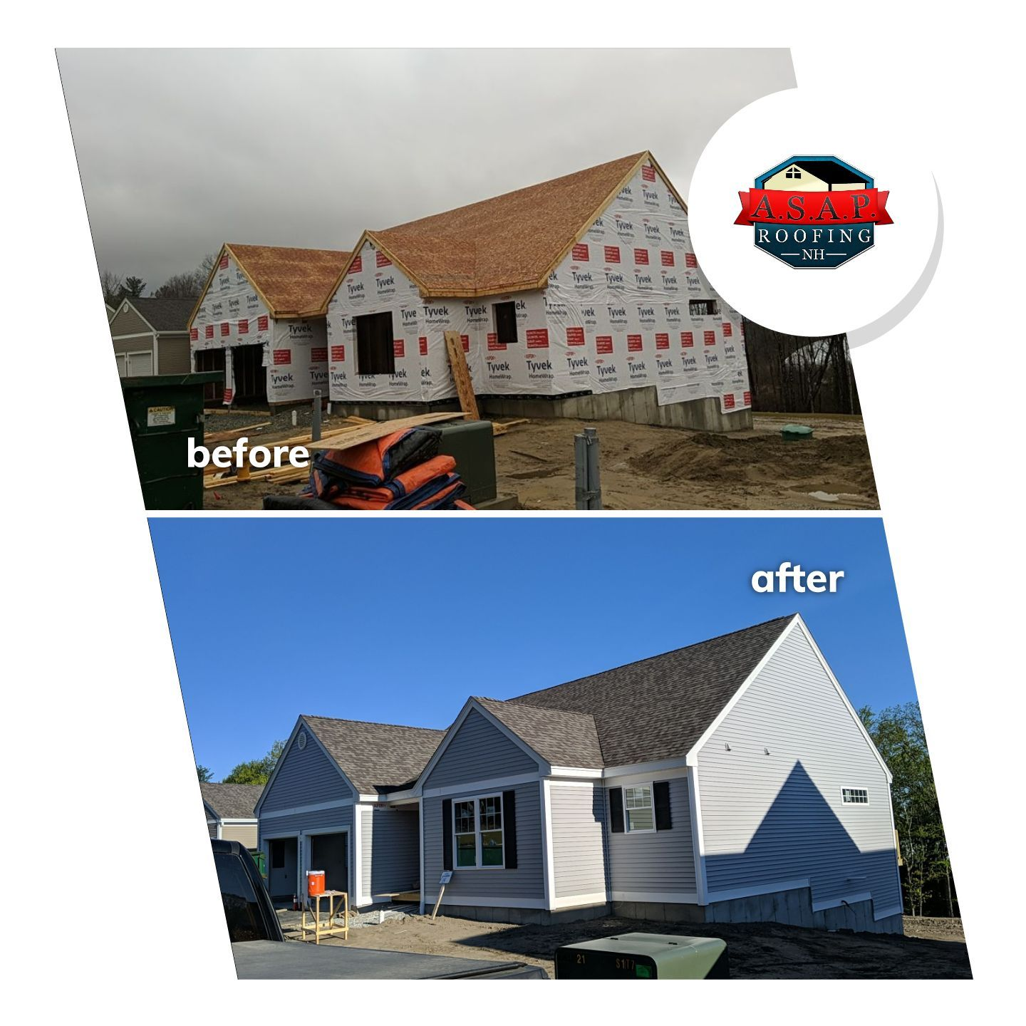 Residential Roofing, New Construction, Reserve Way in Milford