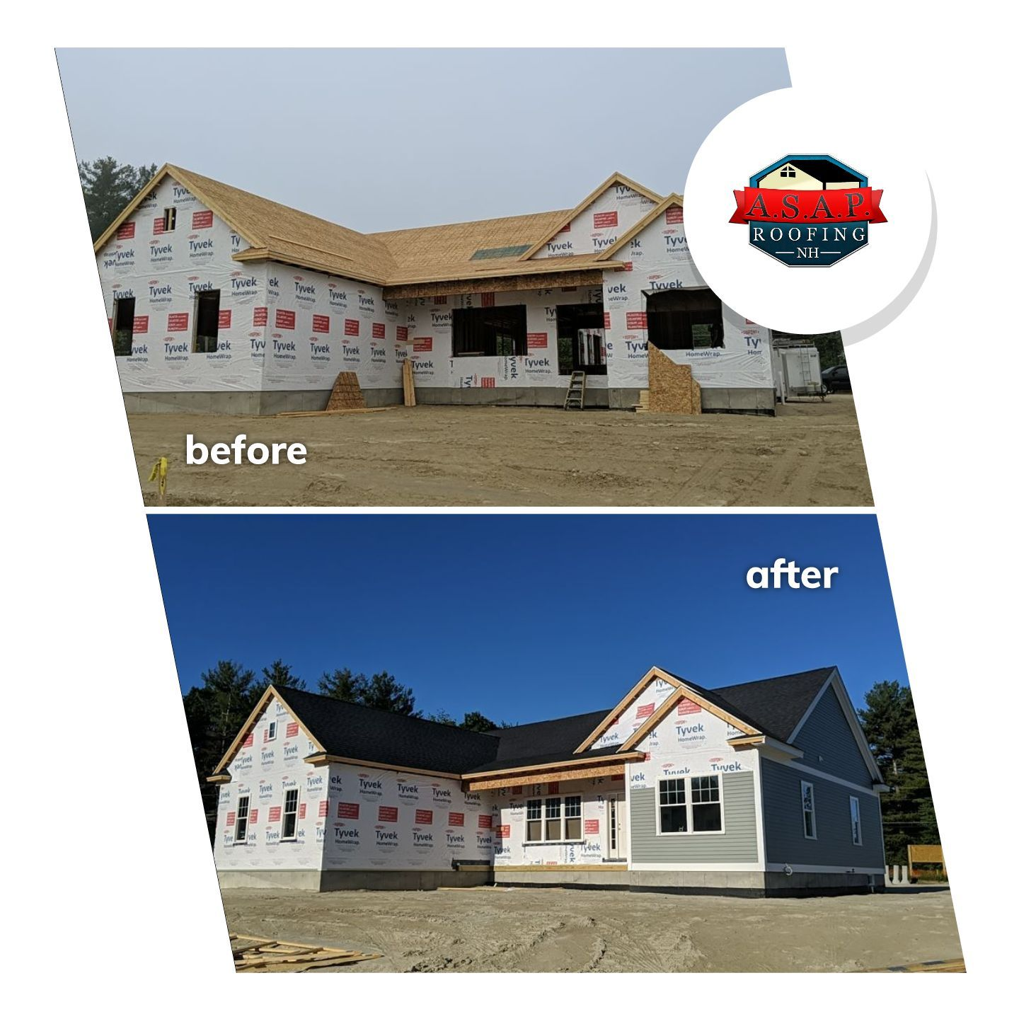 Residential Roofing, New Construction in Londonderry NH