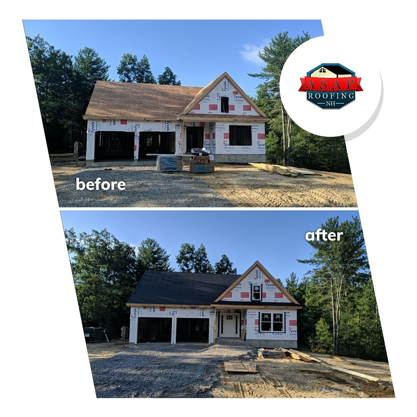 Residential Roofing, New Construction in Litchfield NH by ASAP Roofing