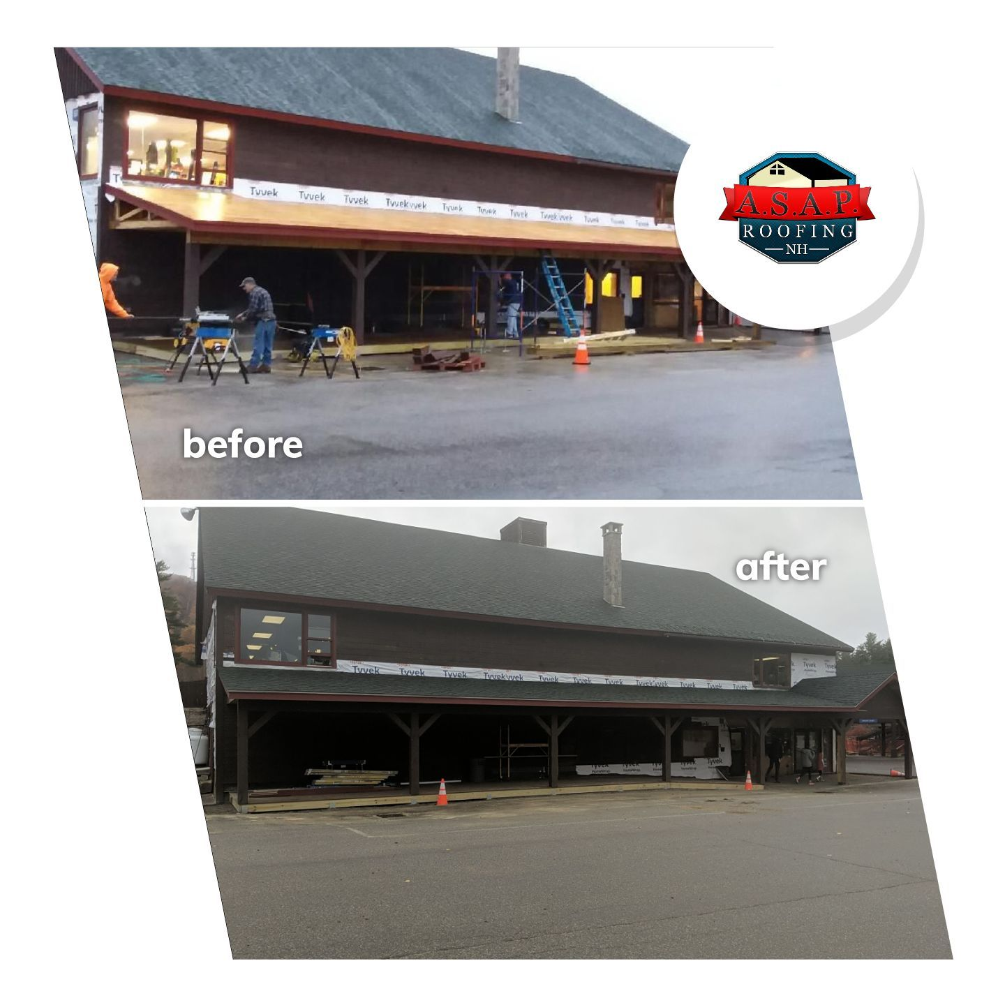Commercial Roofing at Gunstock by ASAP Roofing NH