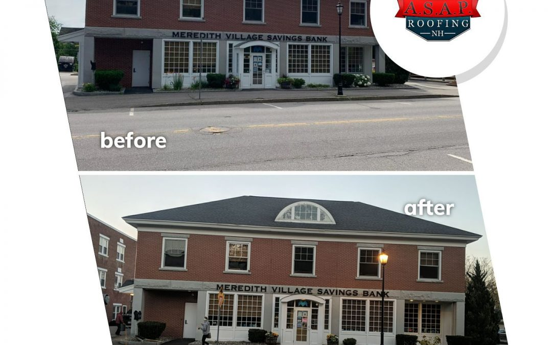 Commercial Roofing in Plymouth NH at Meredith Village Savings Bank