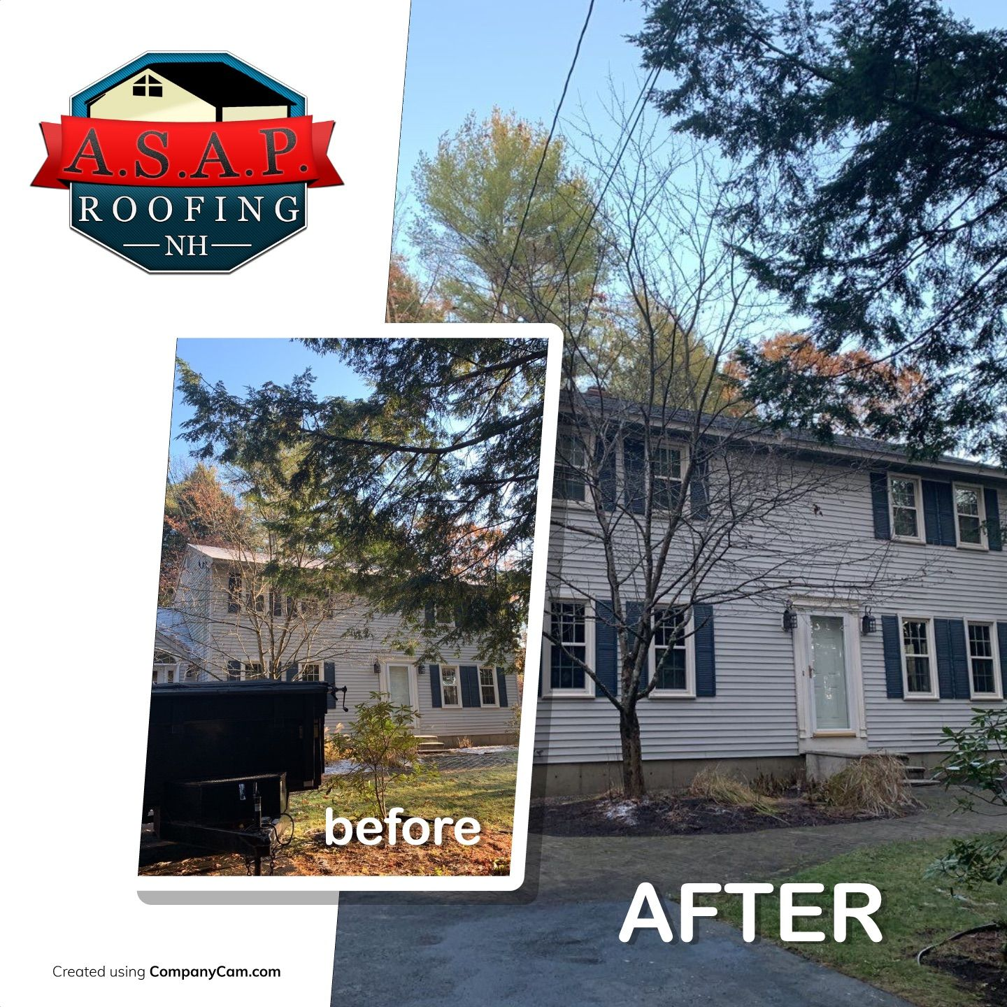 Professional Residential Roofing in Auburn NH by ASAP Roofing