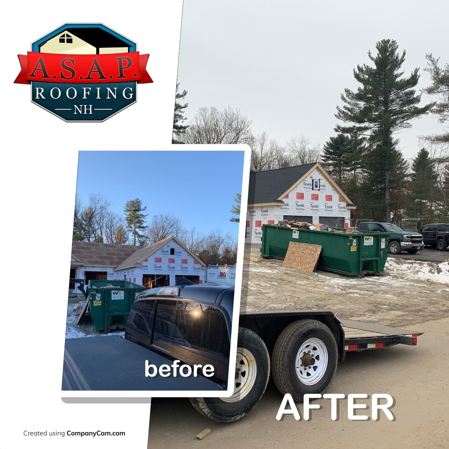 Residential Roofing, New Construction, Horizon Drive in Litchfield NH