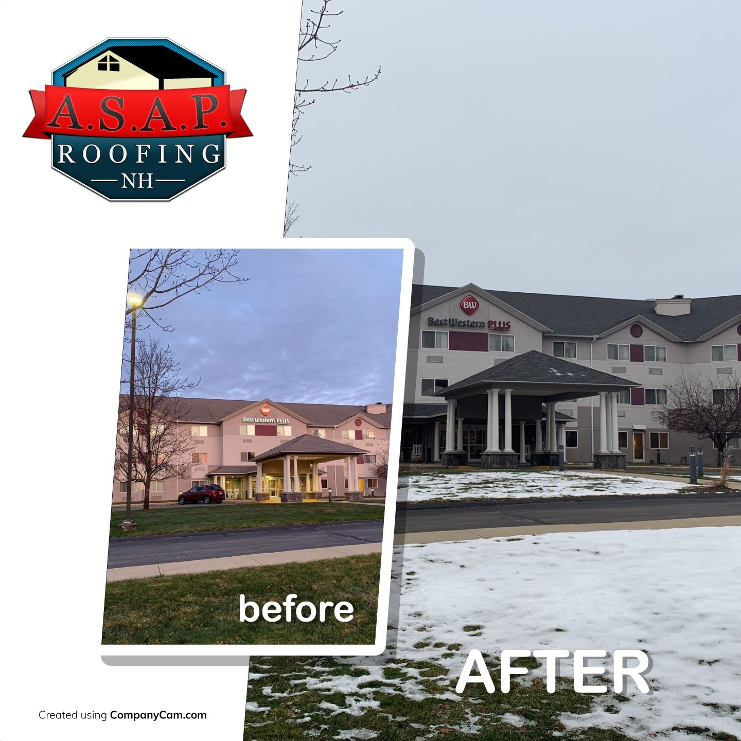 """""""Amazing"""" Commercial Roofing at Best Western South Willow Street in Manchester NH by ASAP Roofing"""