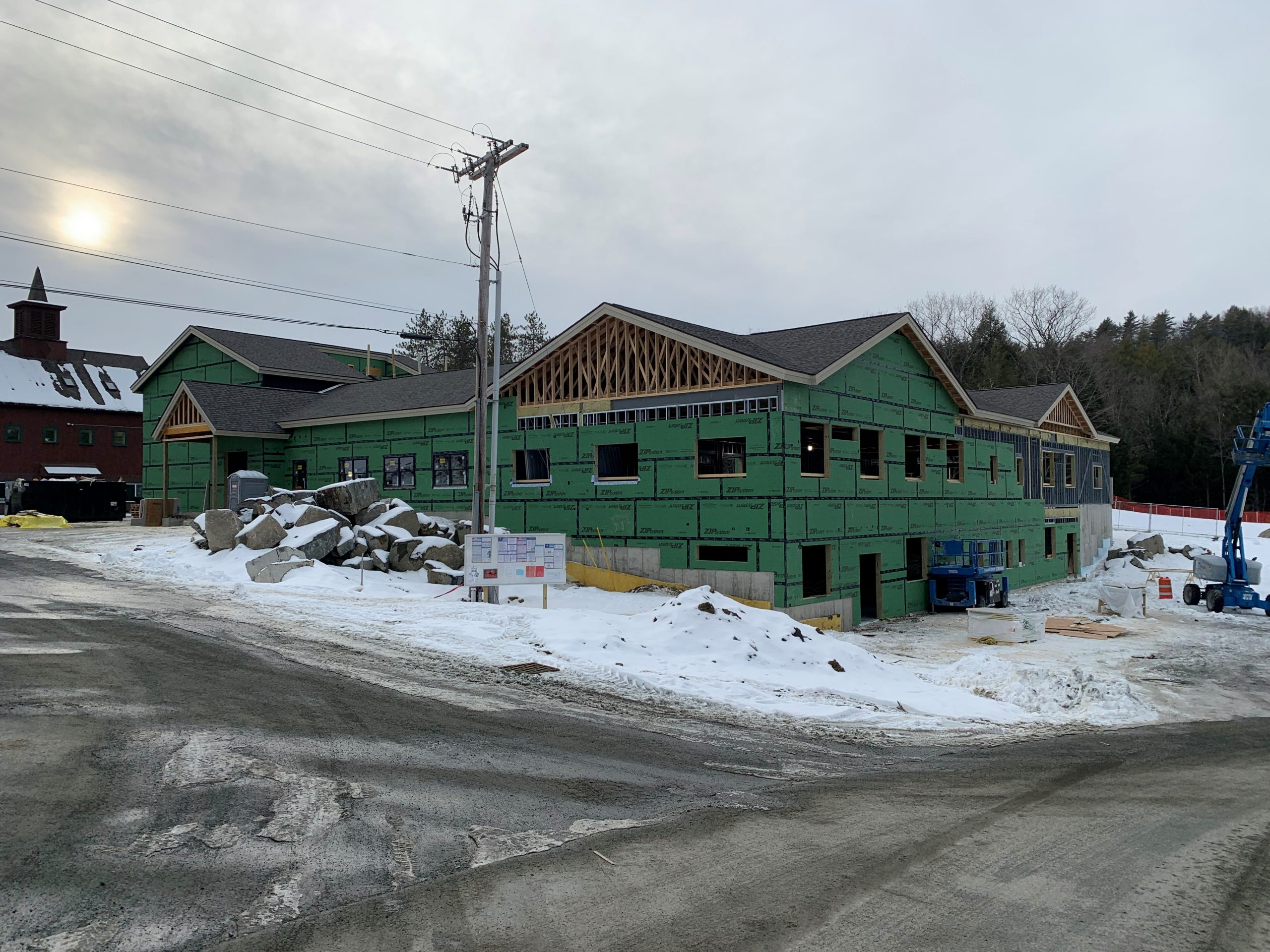 Commercial Roofing: Middle School at Crossroads Academy in Lyme NH by ASAP Roofing NH