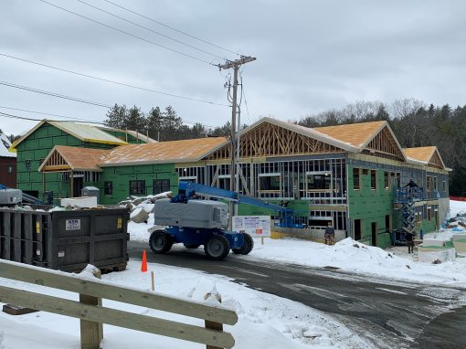 Commercial Roofing: Middle School at Crossroads Academy in Lyme, NH